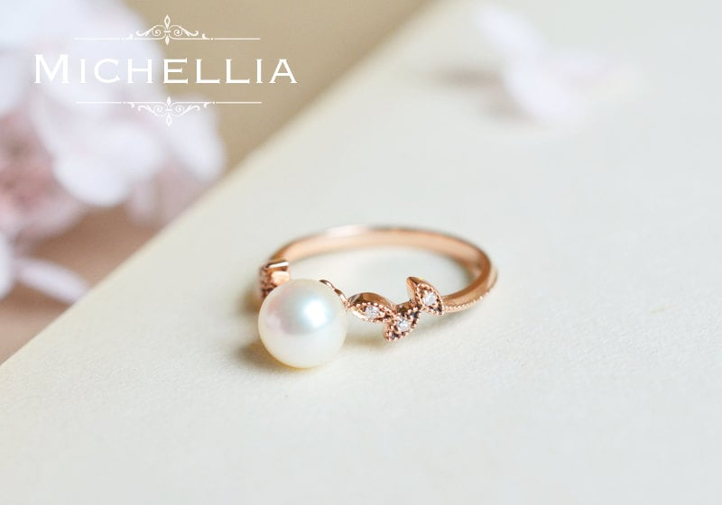 Inspired by the woodland fairy tales, this pearl leaf ring ($628) promises a happy ending.