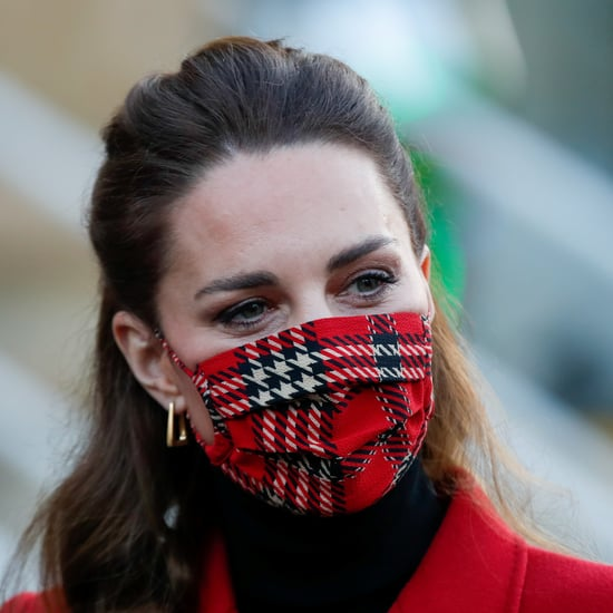 Kate Middleton Dons Tartan Emilia Wickstead Face Mask | 2020