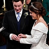 Jack Brooksbank Putting on Princess Eugenie's Wedding Band