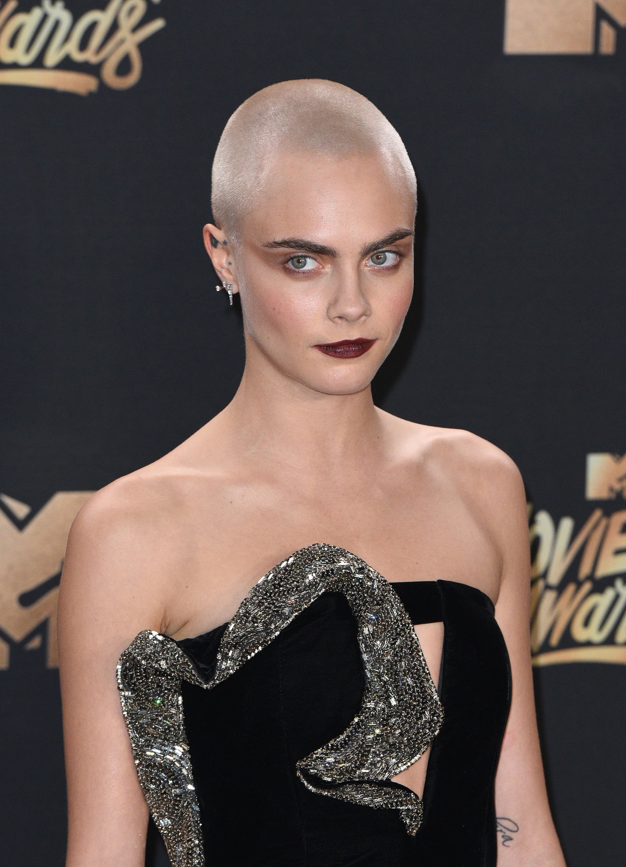 Cara Delevingne Shaved Head Tattoo Popsugar Beauty Australia