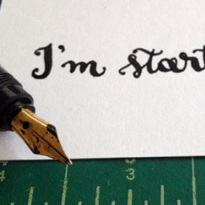 Handwritten Calligraphy Text Messages Project