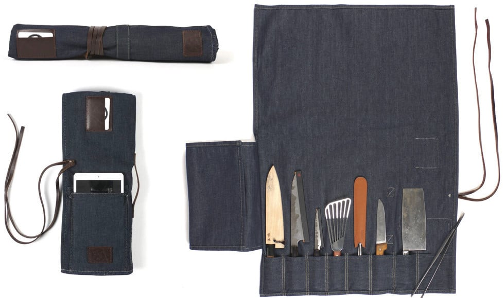 Mi Cocina Denim Knife Roll