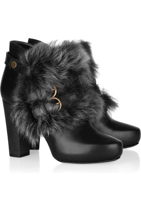 Donna Karan Shearling-Trimmed Ankle Boots ($990)