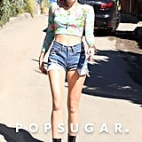 Miley Cyrus Wearing Short Shorts in LA | Pictures
