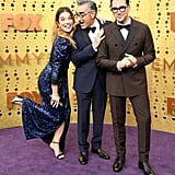 Annie Murphy, Eugene Levy, and Daniel Levy at the 2019 Emmys
