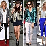 Be inspired by these style pros, and update your look with a metallic blazer.