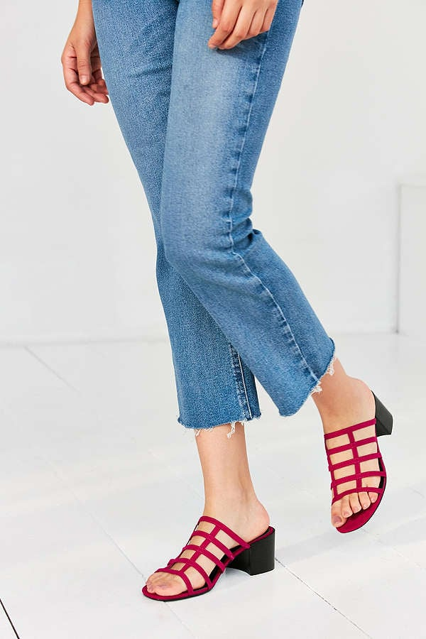 Urban Outfitters Faux Suede Lattice Mule