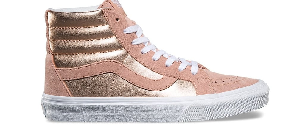 Vans Rose Gold High Top Sneakers