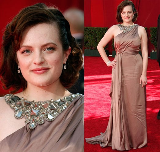 Elisabeth Moss on the Emmy Awards Red Carpet