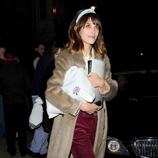 Alexa Chung at London Fashion Week Fall 2012