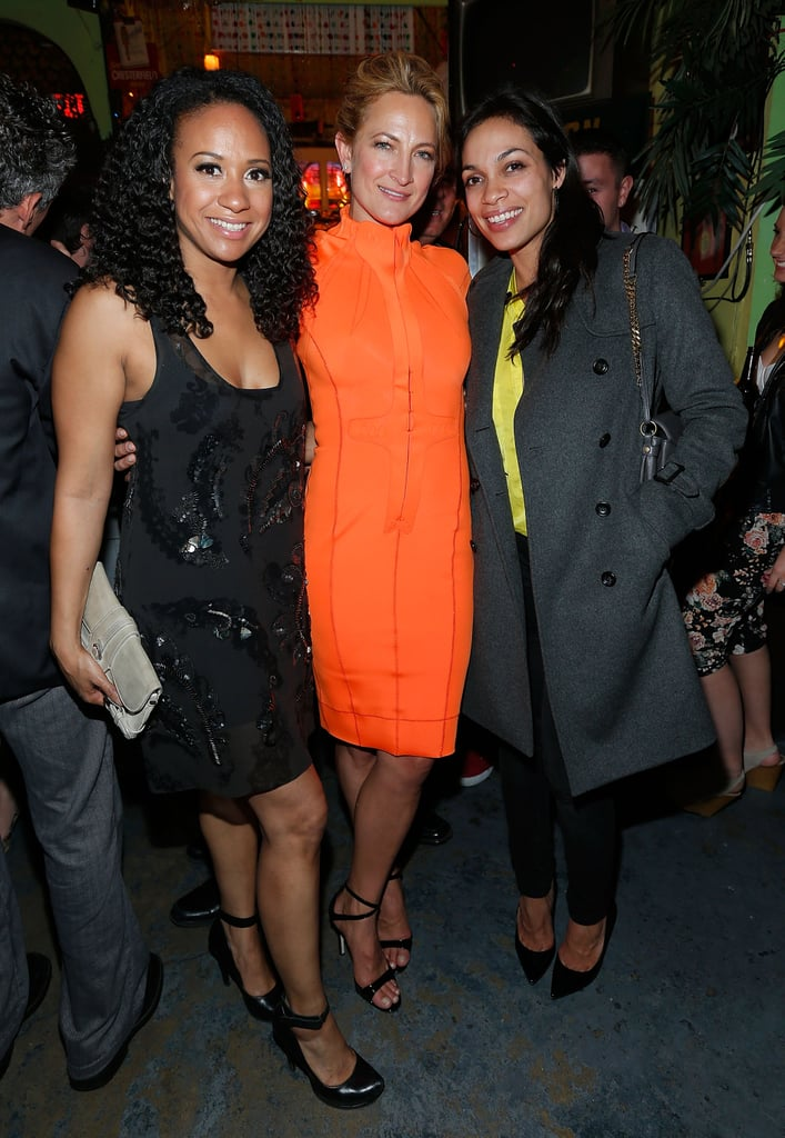 Rosario Dawson partied with Tracie Thoms and Zoë Bell at the afterparty for Raze.