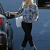 Gwen Stefani wore shades of gray to rehearse with No Doubt.