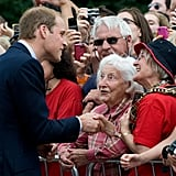 Prince William met with fans in Canada.