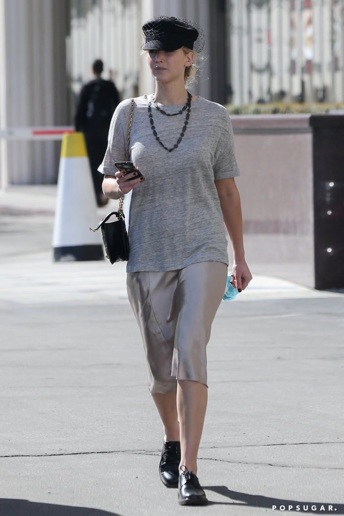 Jennifer Lawrence Wore a Slip and a T-Shirt (That's All!), and It Actually Looked Damn Good