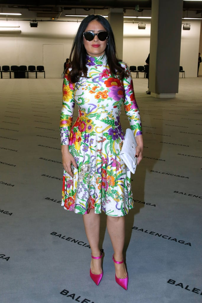 "Salma Hayek's Balenciaga Dress Screams: ""Spring, I'm Ready!"""