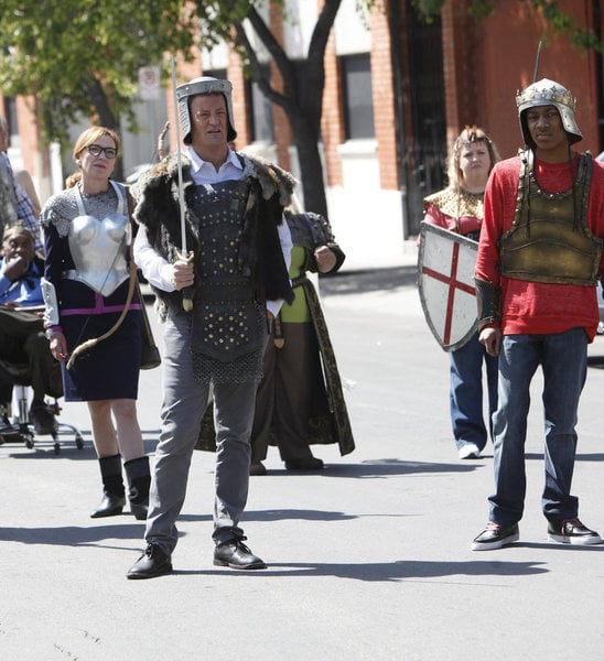 Matthew Perry and Tyler James Williams in Go On.