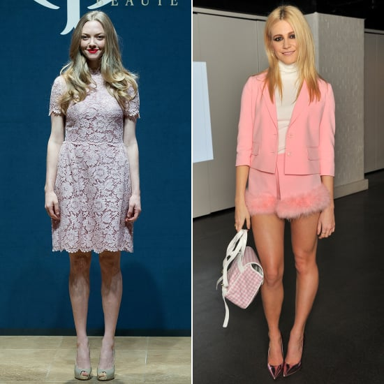 Amanda Seyfried and Pixie Lott in Pink Outfits | Pictures