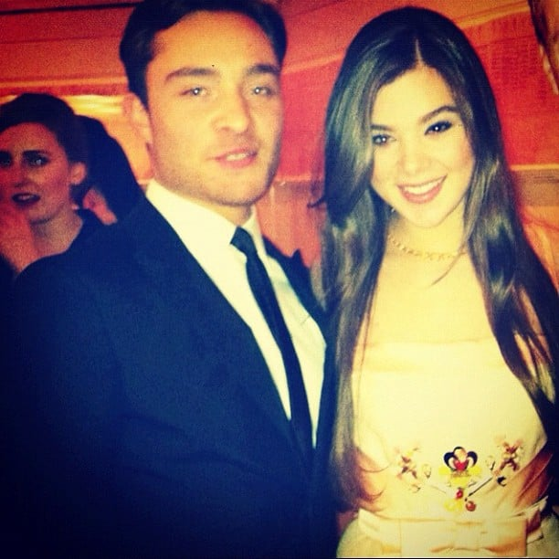 Ed Westwick and Hailee Steinfeld posed for a pic at the Met Gala.  Source: Instagram user haileesteinfeld