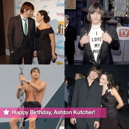 Pictures of Ashton Kutcher on His 33rd Birthday
