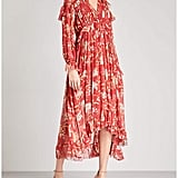 Zimmermann Corsair Iris Cape Georgette Midi Dress
