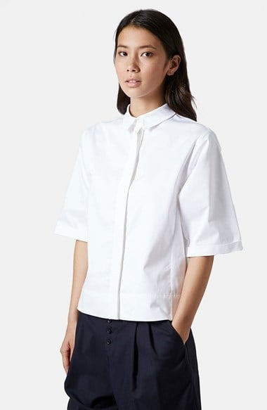 Topshop White Button-Down