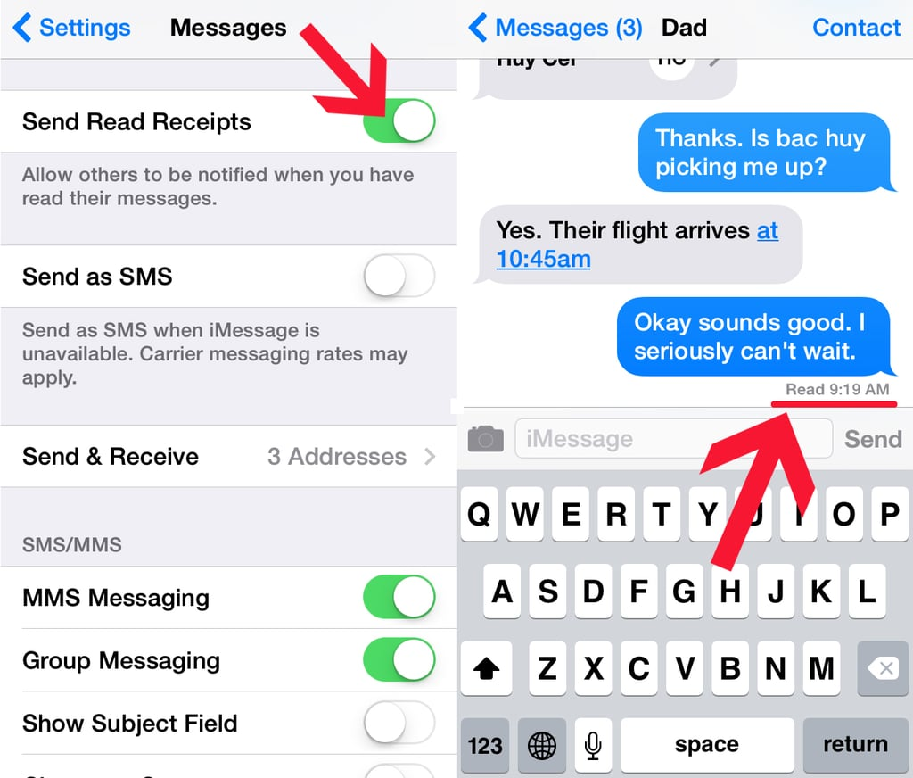 How Do I Enable and Disable Read Receipts?