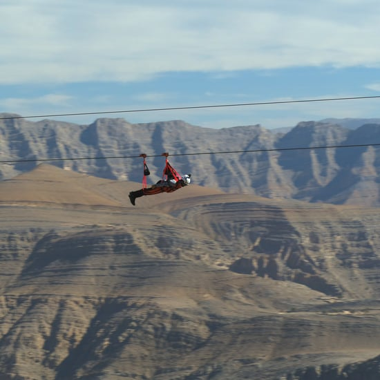 المسار الانزلاقي جبل جيس فلايت في جبل جيس رأس الخيمة
