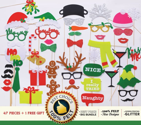 Ultimate Collection of Christmas Photo Booth Props