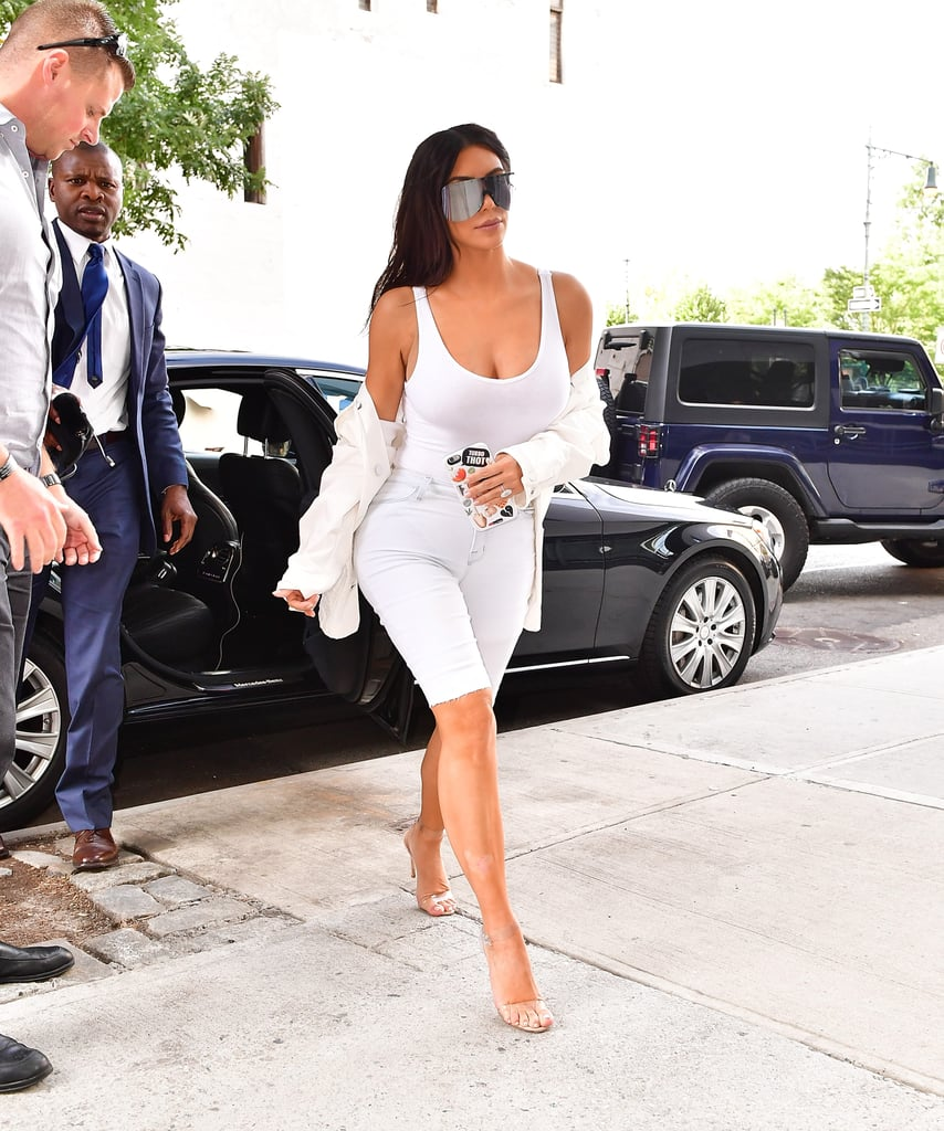 Kim Kardashian Wearing Bermuda Shorts | POPSUGAR Fashion