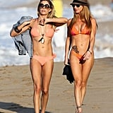 LeAnn showed off her fit frame on the beach.