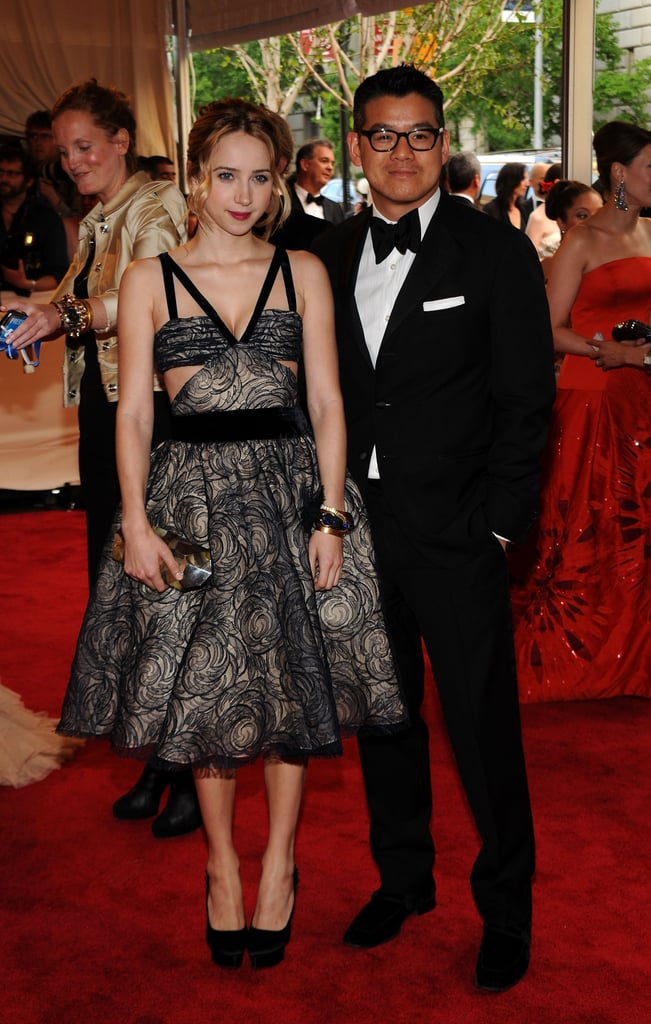 Zoe Kazan in Peter Som with the designer