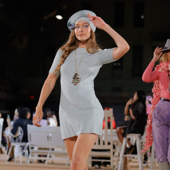 Watch Gigi Hadid Tip-Toe Down the Runway Barefoot at NYFW