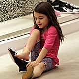 Pics: Suri Cruise Tries On High Heels Out Shoe Shopping With Katie!