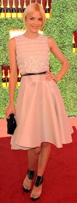 Jaime King in Beaded and Pleated Jason Wu Dress