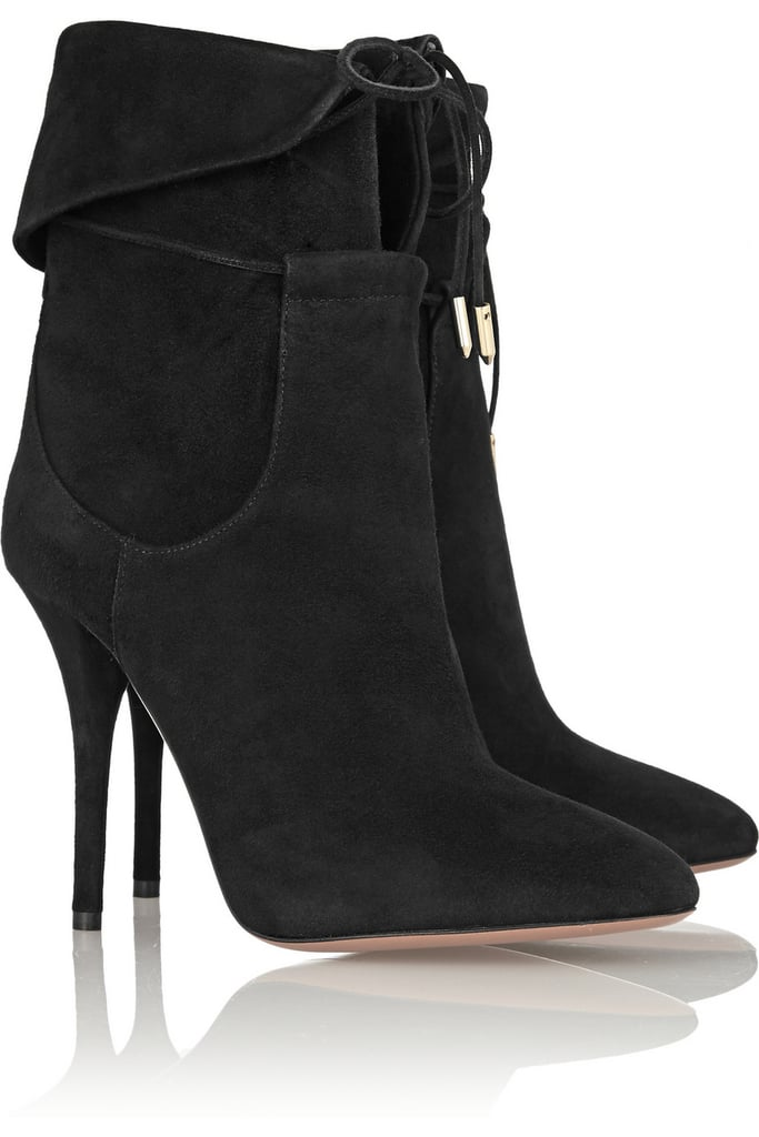 Olivia Palermo x Aquazzura Suede Ankle Boots