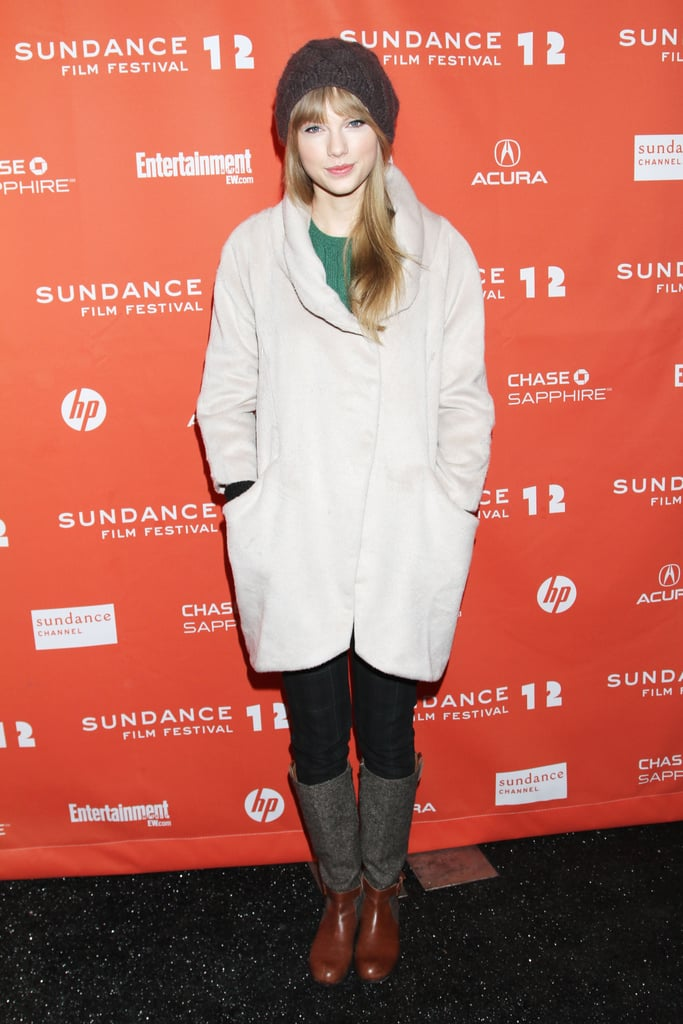 """Taylor Swift stayed cosy in her hat and coat as she made a surprise appearance at the premiere of Ethel, a documentary about Ethel Kennedy, at the Sundance Film Festival on Friday. Taylor declined to do interviews on the press line, though in her February Vogue cover story she did speak about her interest in Ethel's marriage after the two had lunch together recently. In the article, Taylor also addressed her much-talked-about love life and her own """"stupidity"""" when she falls for someone hard. It's been a while since she's been linked to someone romantically, but most recently she reportedly was spotted out on a date with Zac Efron, sparking a set of rumours about the twosome."""