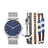 Goodfellow & Co Men's Nautical Mesh Strap Watch Set