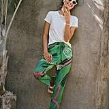 Julia Paint-Swiped Tapered Pants