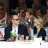 Charlotte, an avid rider, took a break to chat with her uncle Prince Albert at the Global Champion Tour 2011 in Monte Carlo.