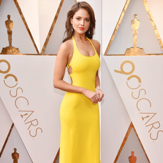 Eiza Gonzalez Wearing Yellow Dress at the Oscars 2018