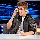 Justin Bieber answered questions on Spanish talk show El Hormiguero.