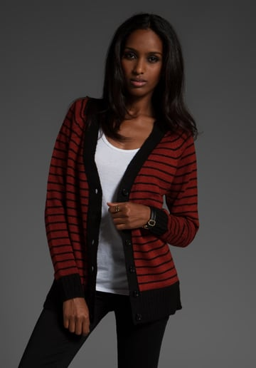 We love a cozy cardigan, and we're a sucker for great sailor stripes, too.   Lucca Couture Striped Cardigan ($74)