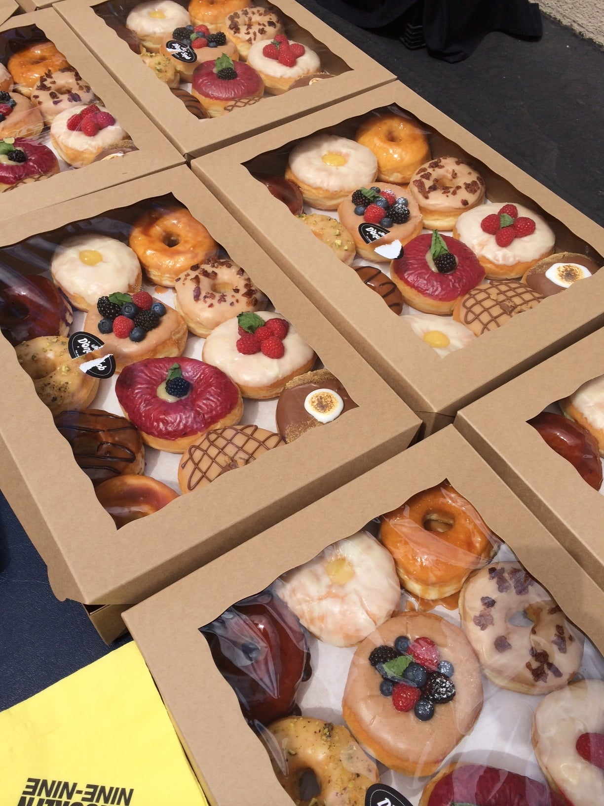 We got doughnuts . . . because cops love doughnuts. Get it? Side note: I had the purple one, and it was delicious.