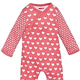 Heart Prints Footie and Hat Set