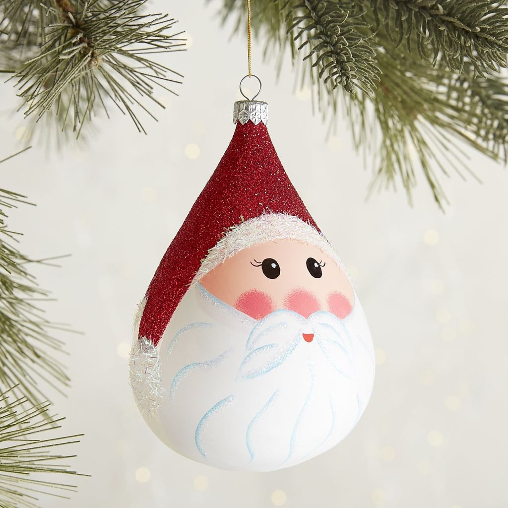 Pier 1 Christmas Ornaments.European Glass Santa Claus Face Cone Ornament 15 Pier 1