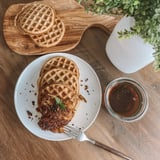 Baked Chicken and Protein Waffles Recipe