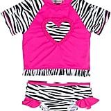 Zebra Rash Guard Swimsuit
