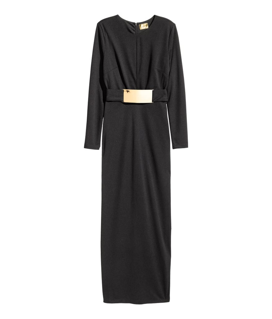H&M Belted Maxi Dress