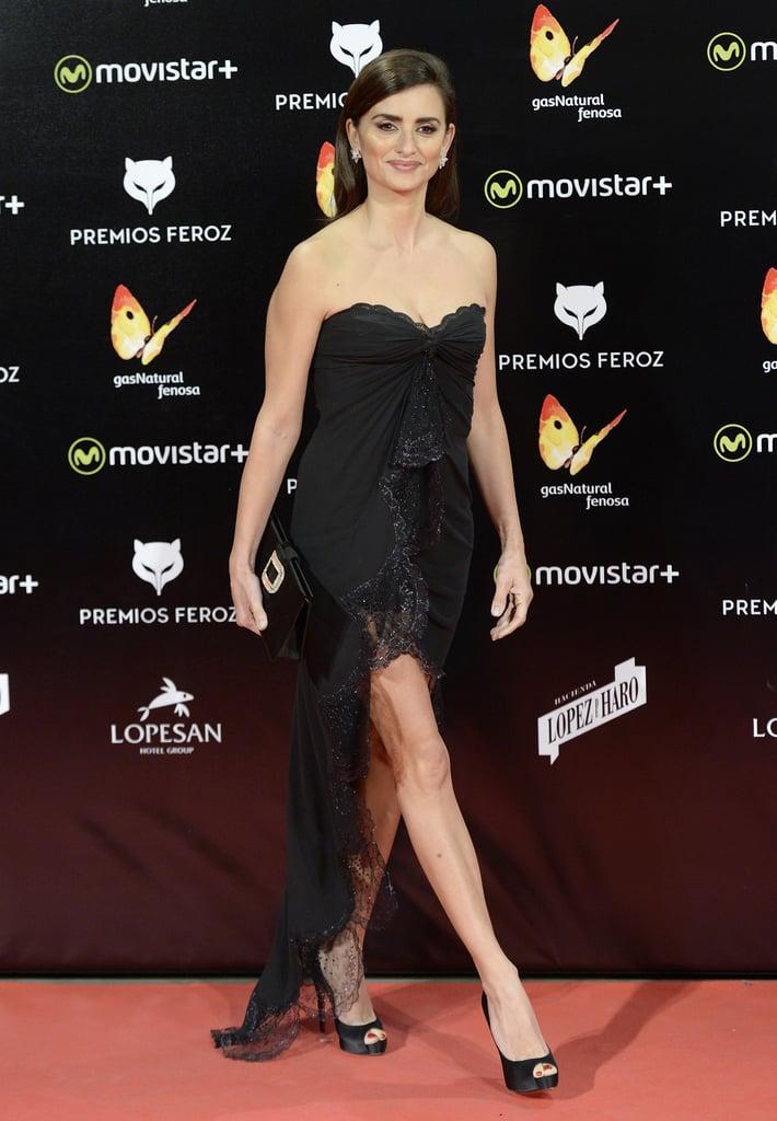 Penelope Cruz Wears A Vintage Ungaro Black Dress