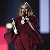 . . . as she picked up her first award for British female solo artist.
